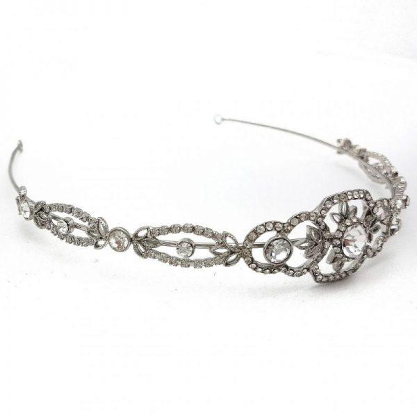 Silver Wedding Tiara - Maisy
