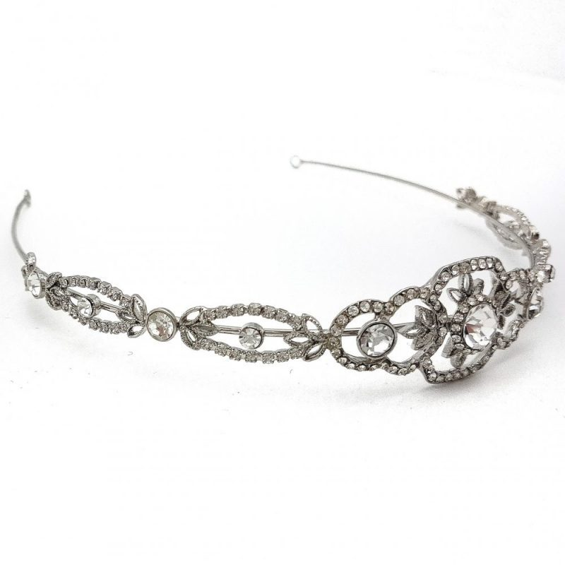 Silver Wedding Tiara - Maisy