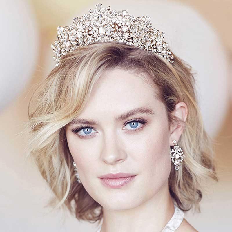 taylor gold bridal crown
