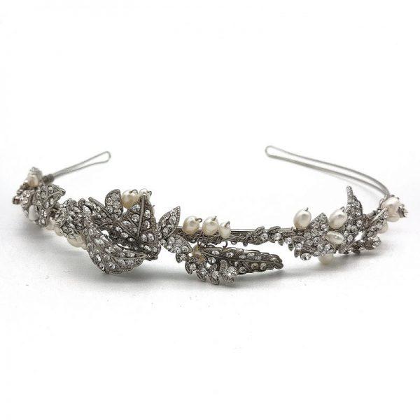 Silver Bridal Tiara - Missie