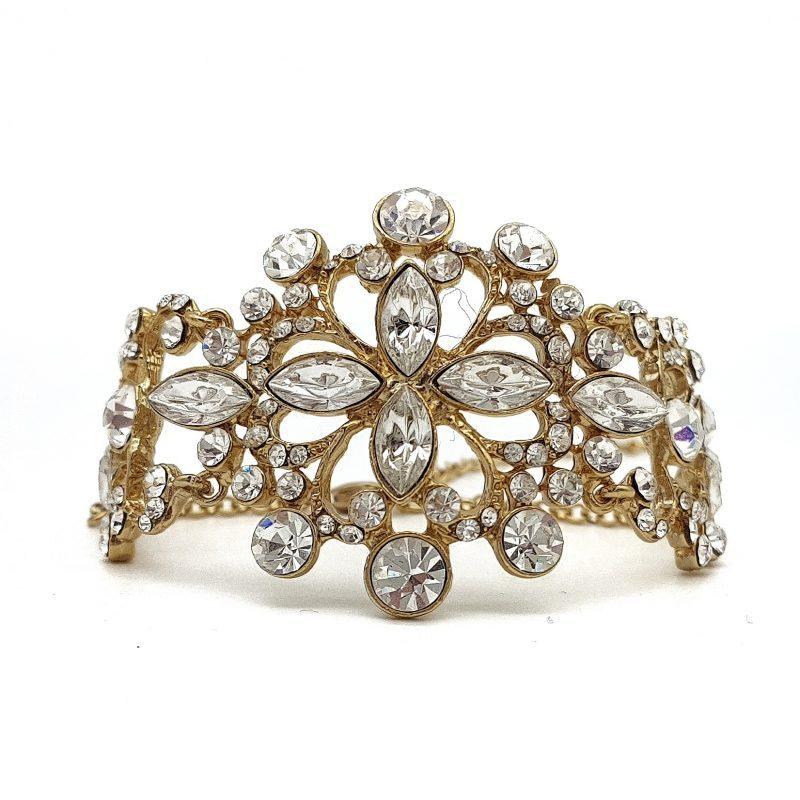 Gold Rhinestone Bridal Bracelet