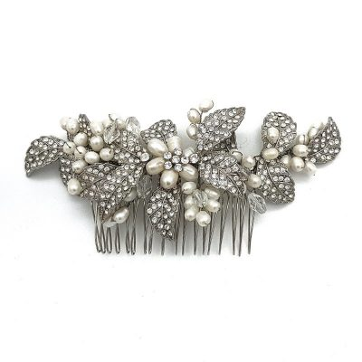 Fresh Water Pearl and Diamante Hair Comb