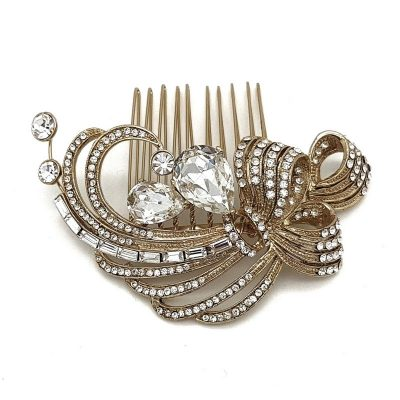 Gold Vintage Bridal Hair Comb