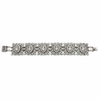 Silver Swarovski Crystal Wedding Bracelet