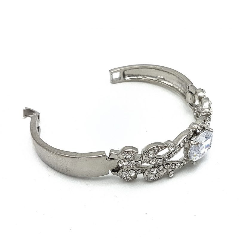 Silver Cubic Zirconia Bridal Bangle