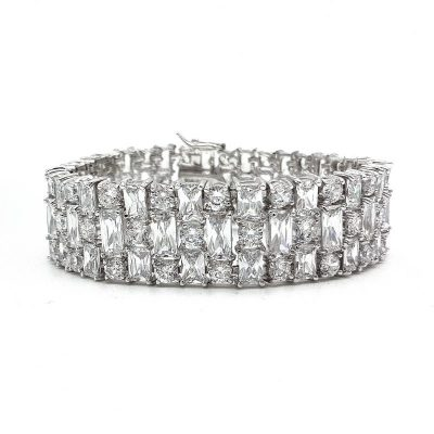 Geometric Cuff Bridal Bracelet