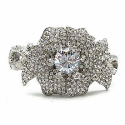 Diamante Floral Bangle