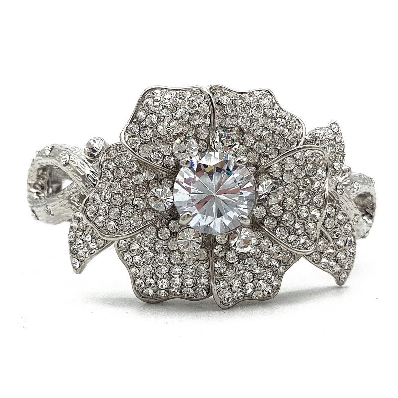Diamante Floral Bangle