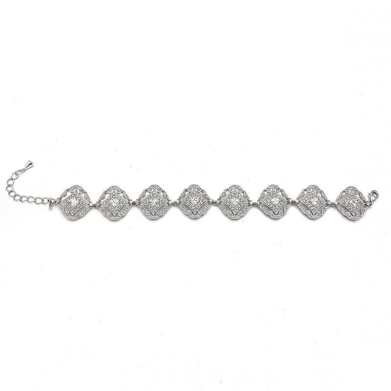 Silver Vintage Wedding Bracelet
