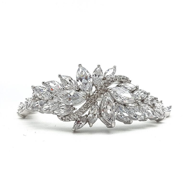 Stunning silver bridal brcelet