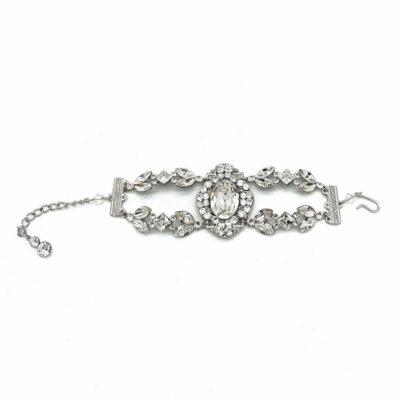 Swarovski Crystal Bridal Cuff Bracelet