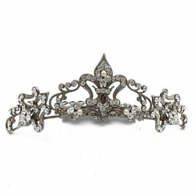 crystal bridal tiara comb