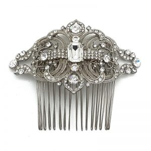 Silver Vintage Hair Comb