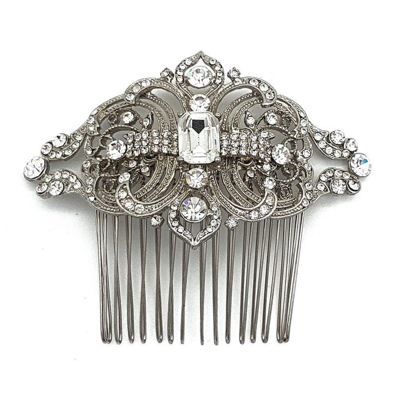 Silver Vintage Hair Comb