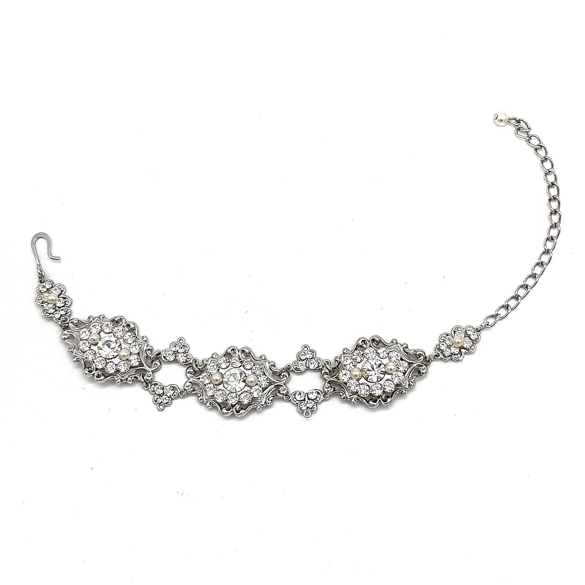 Swarovski Crystal and Pearl Bridal Bracelet