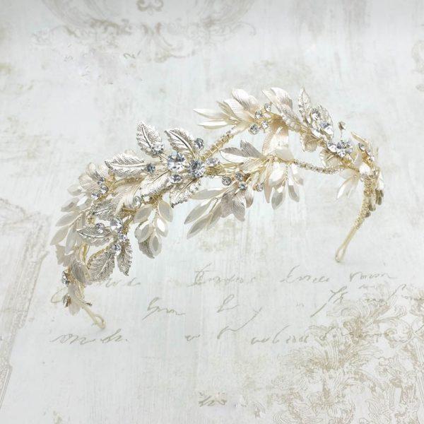 gold crystal headband/crown