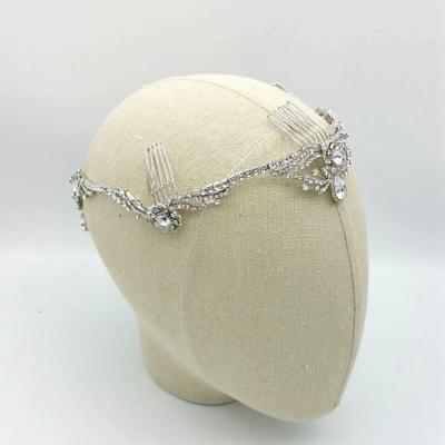 silver drop bridal crown