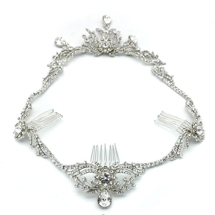 silver statement hairpiece