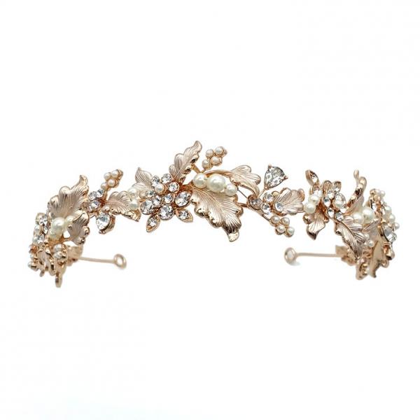gold leaf and crystal headband