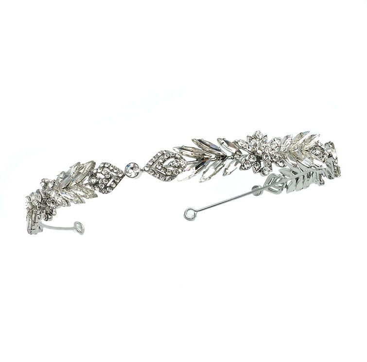 rhodium silver headband
