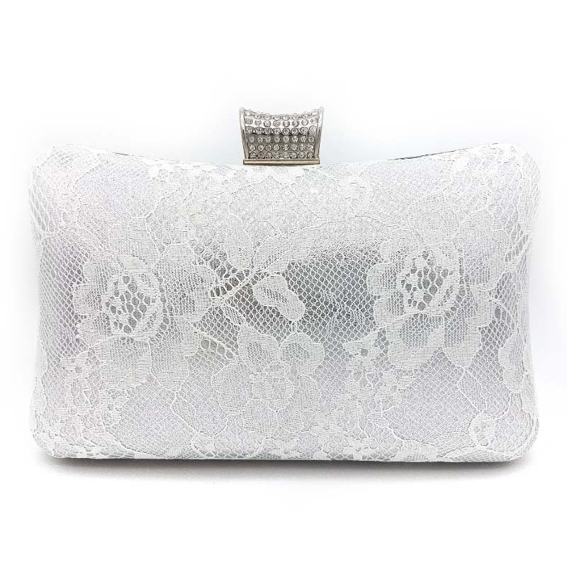 lace bridal clutch
