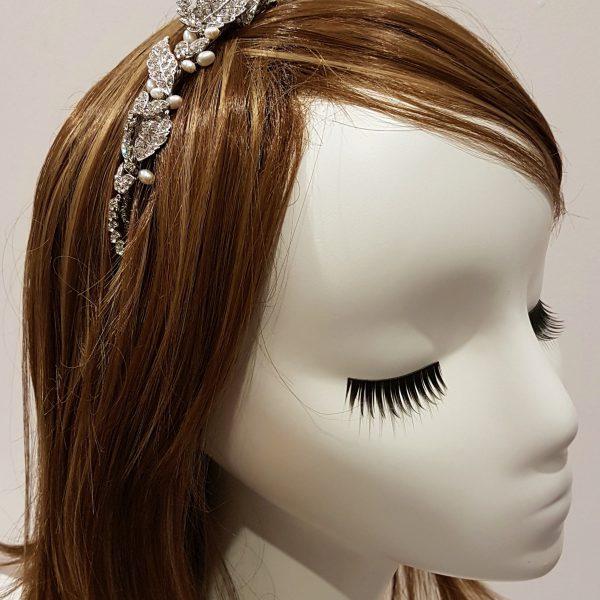 diamante and pearl headband