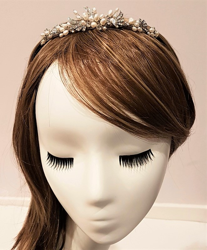 silver pearl tiara