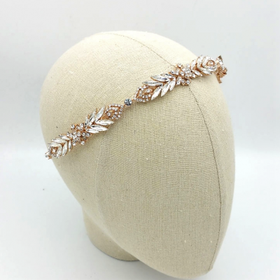 rose gold art deco headband