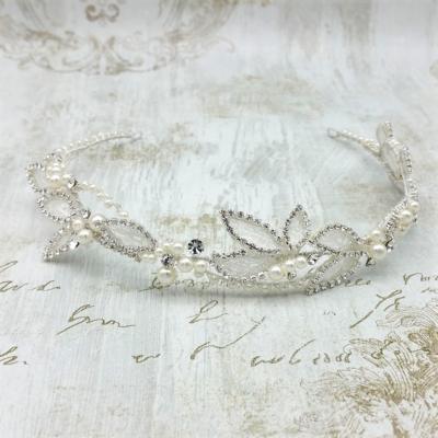 pearl and crystal headband