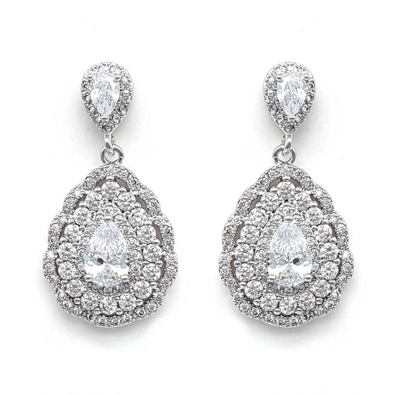 bold tear drop earrings