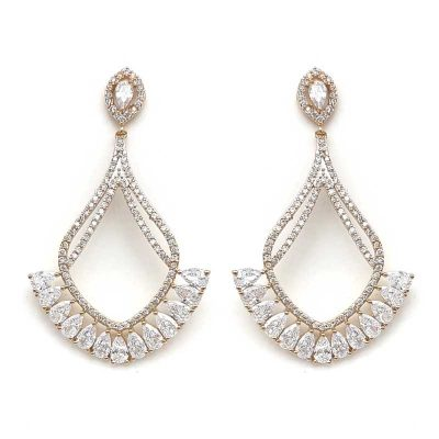 Gold Stunning Bridal Earrings
