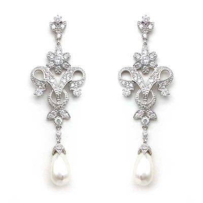 pearl vintage drop earrings