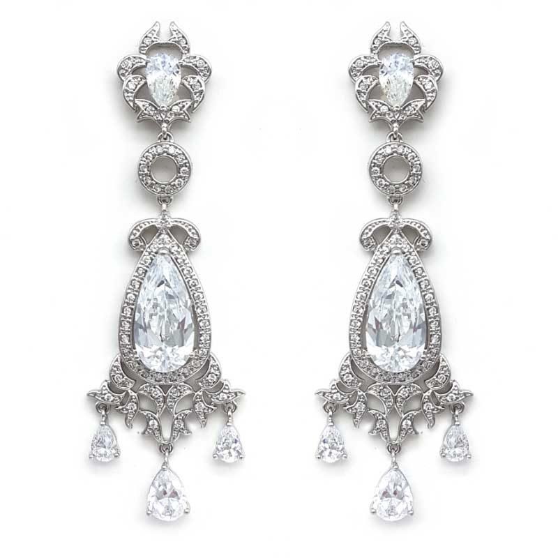 large chandelier bridal earrings