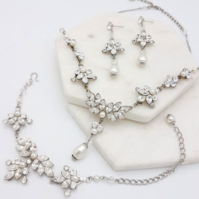 necklace bracelet earring Wedding jewellery set in Sydney