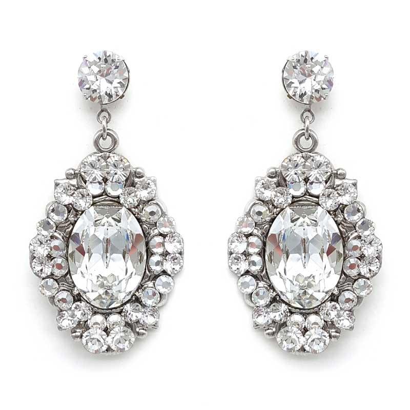 swarovski crystal statement drop earrings