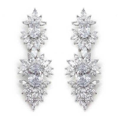 Large statement bridal earrings