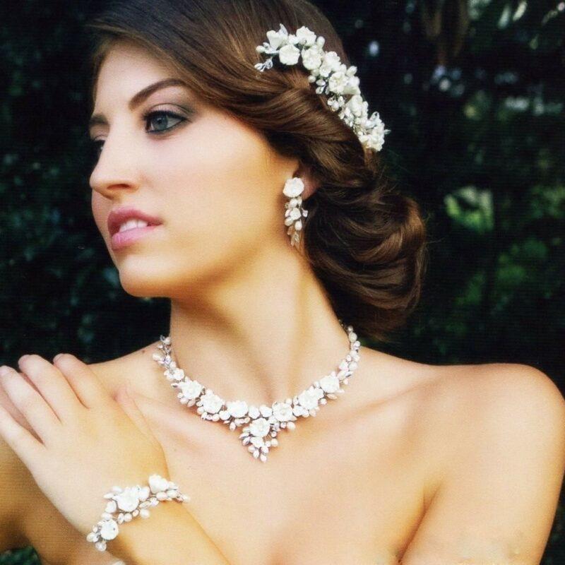 ivory blossom bridal jewellery set
