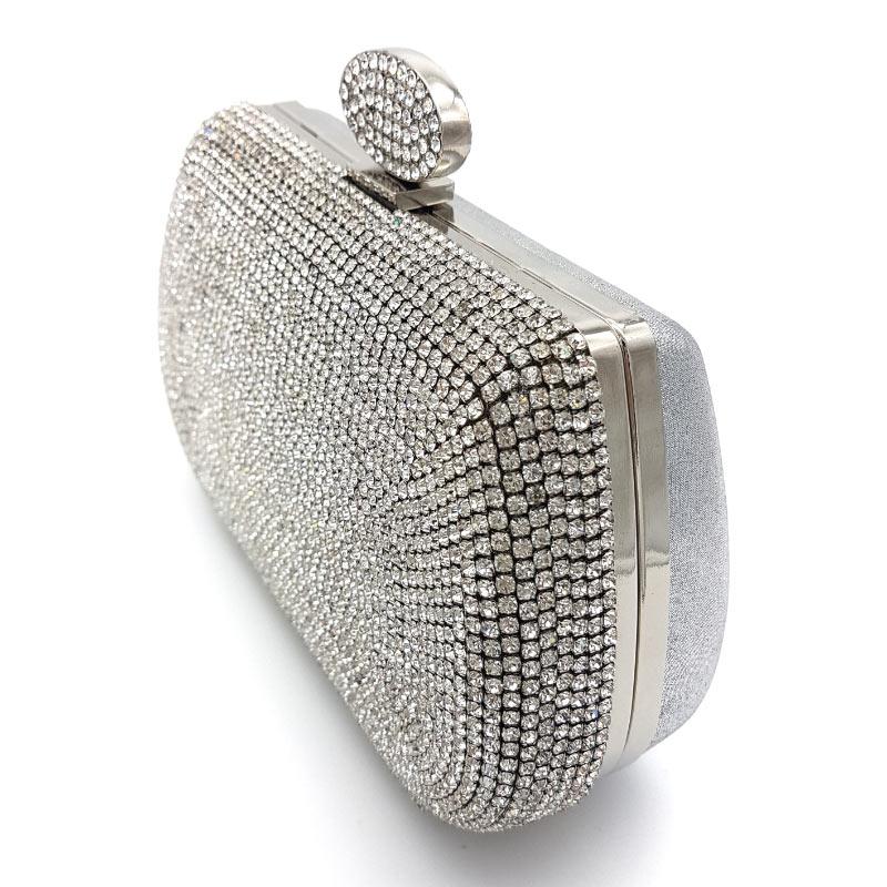 bridal diamante clutch