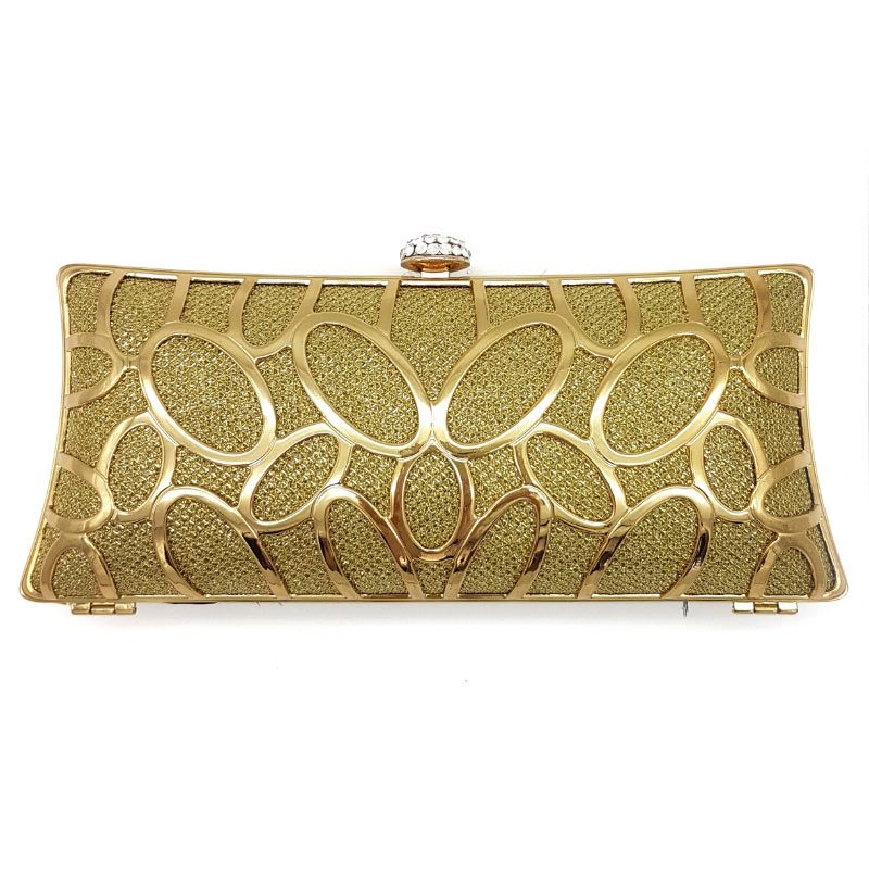 gold bridal evening clutch