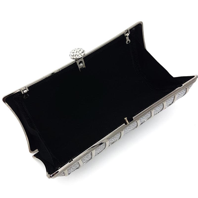 silver bridal clutch
