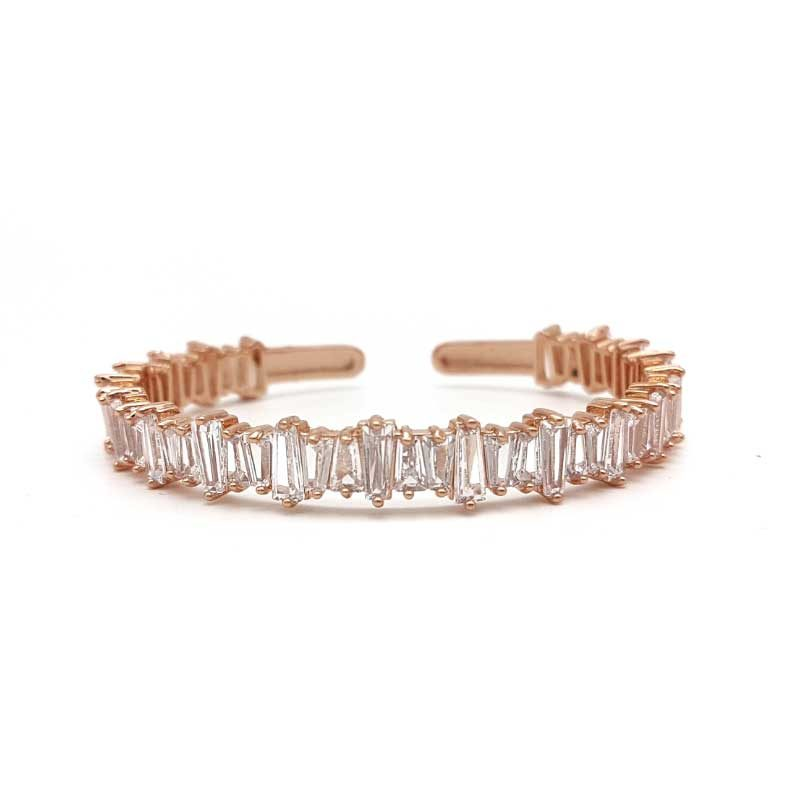 rose gold cz bridal bangle