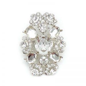 silver bridal brooch