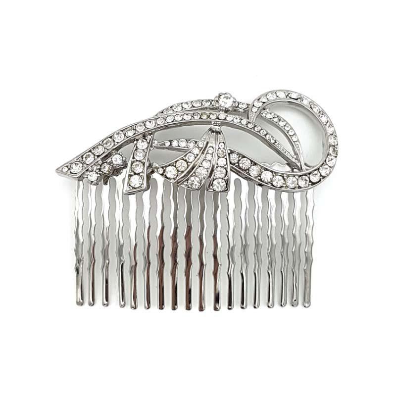 'Mandy' silver bridal comb