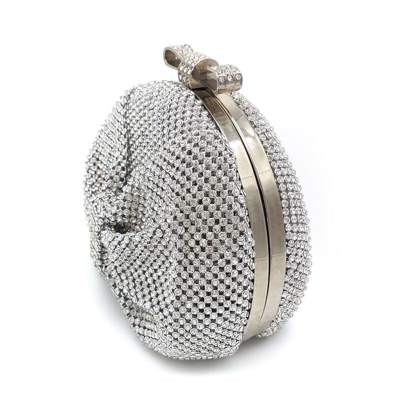 small diamante bridal clutch