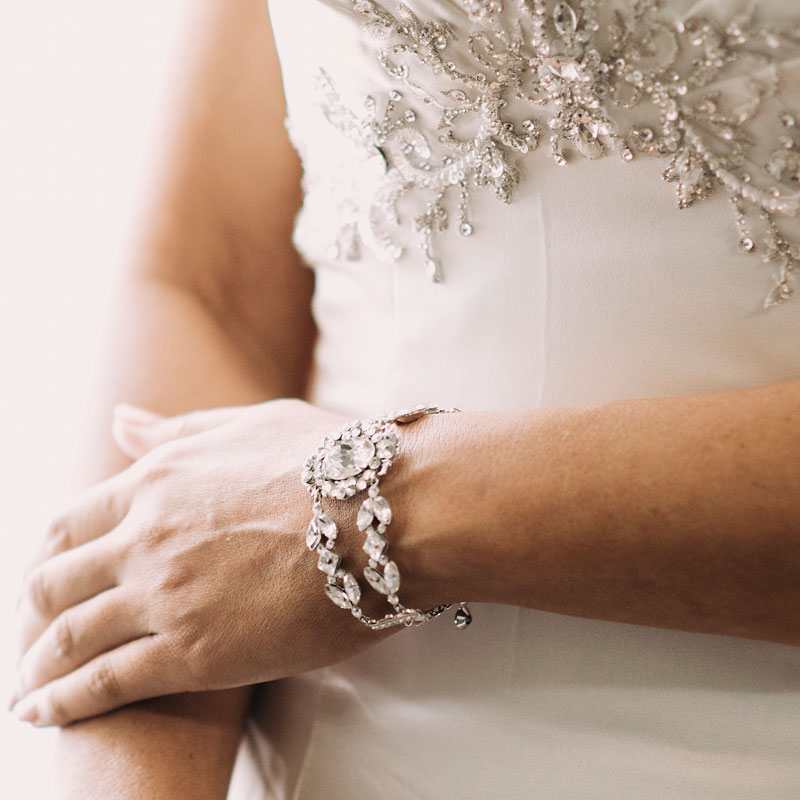 crystal statement bridal bracelet