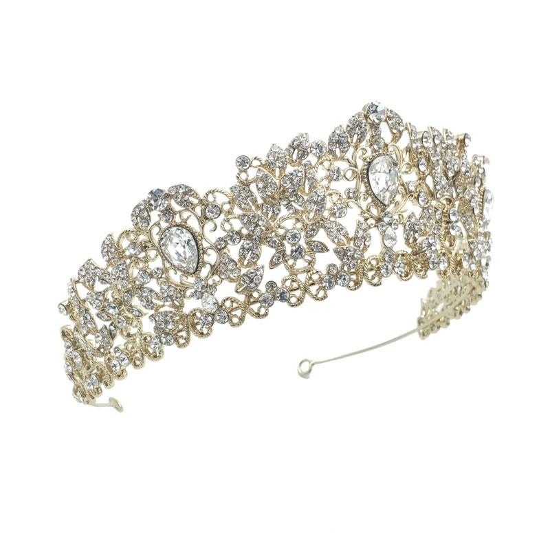 gold crystal Tessa bridal crown