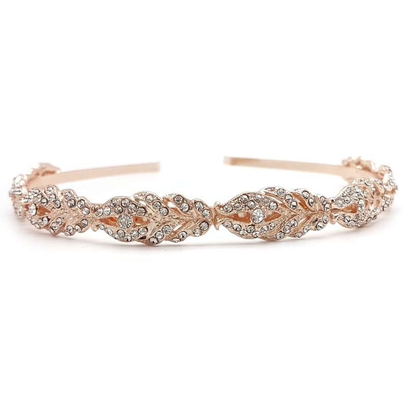 rose gold crystal headband