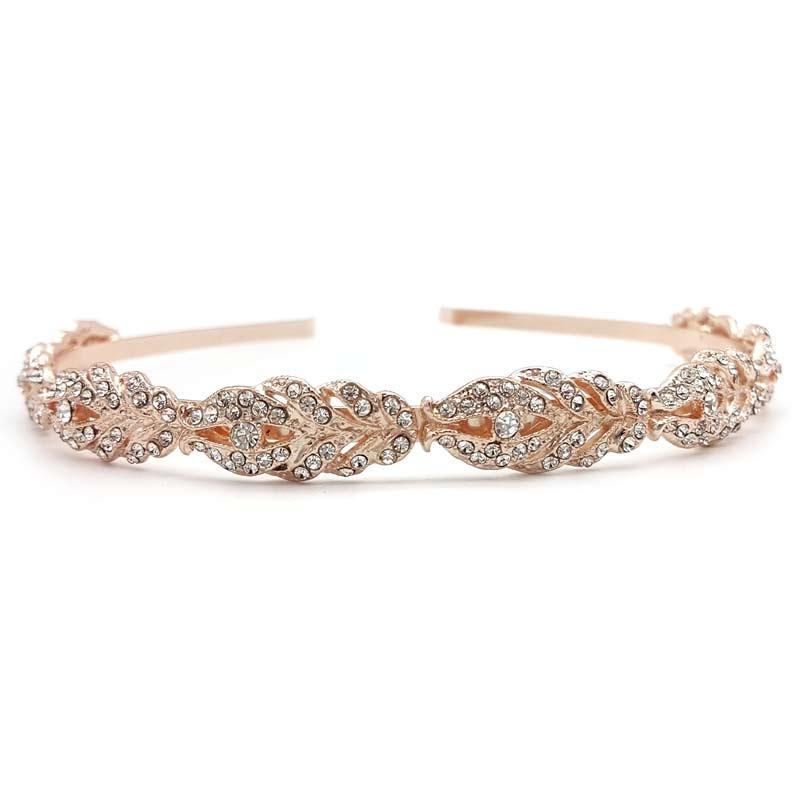 rose gold crystal headband