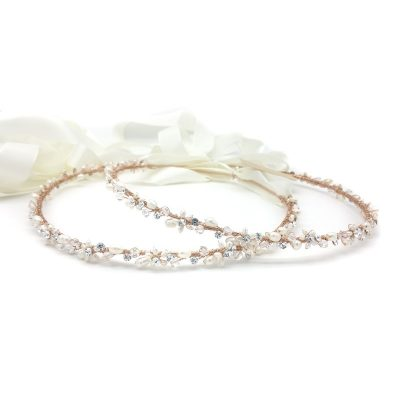 rose gold greek wedding stefana crown