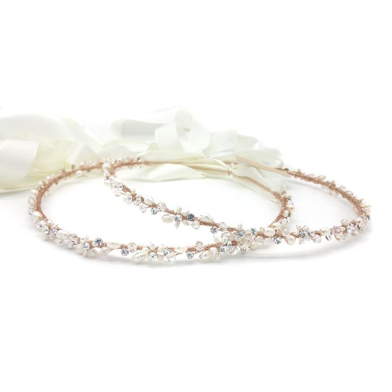 rose gold greek wedding stefana crown